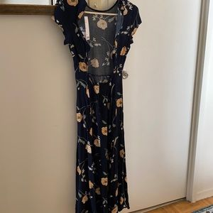 UO new rayon midi floral dress